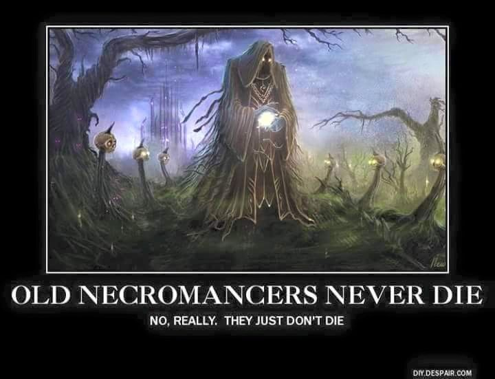 Never say Die! (Taken to the extreme.)