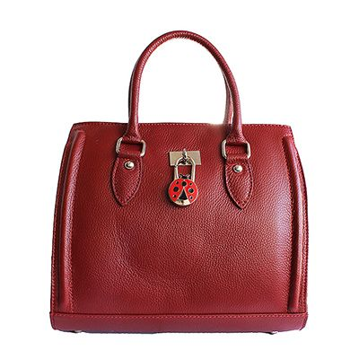 Vintage Gladstone Style Red Leather Handbag - Down to £69.99 from £94.99