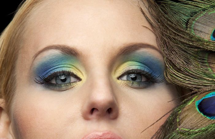 Exotic Eye Makeup - Peacock Eye Makeup
