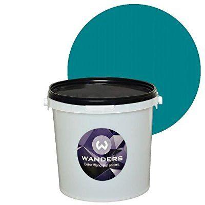 Wanders24 Tafelfarbe 3L. (Türkis) matt Tafel-Farbe chalkboard Wand-Farbe, Wandfarbe Tafel-Lack, Tafellack