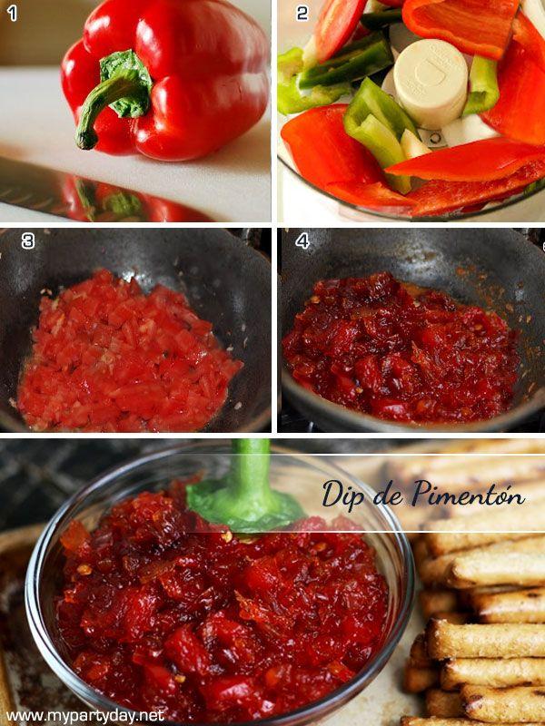 Bell pepper´s dip recipe / Receta para preparar dip de pimentón rojo