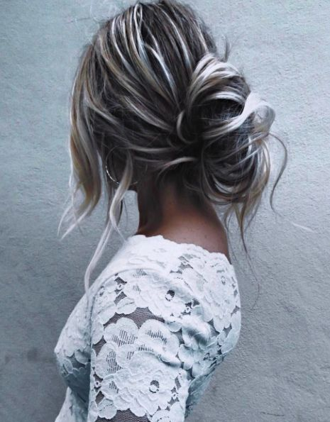 low buns + free people lace