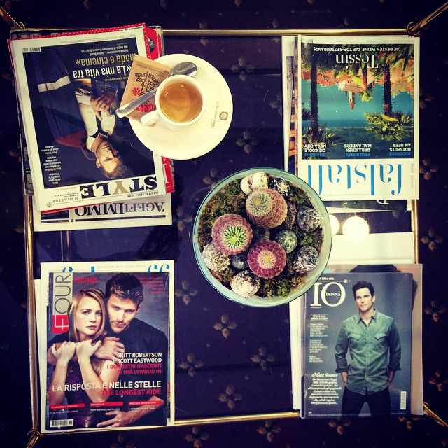 #juliefirstcoffee #monday #magazine #espresso #hotel #cactus #hello #visitTicino #grandtourofswitzerland #swissblogger