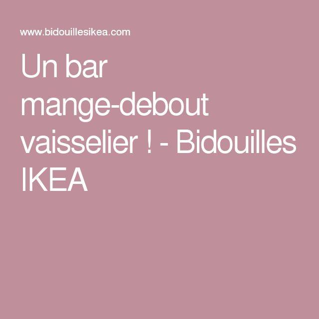 Les 25 meilleures id es de la cat gorie mange debout ikea for Meuble bar mange debout