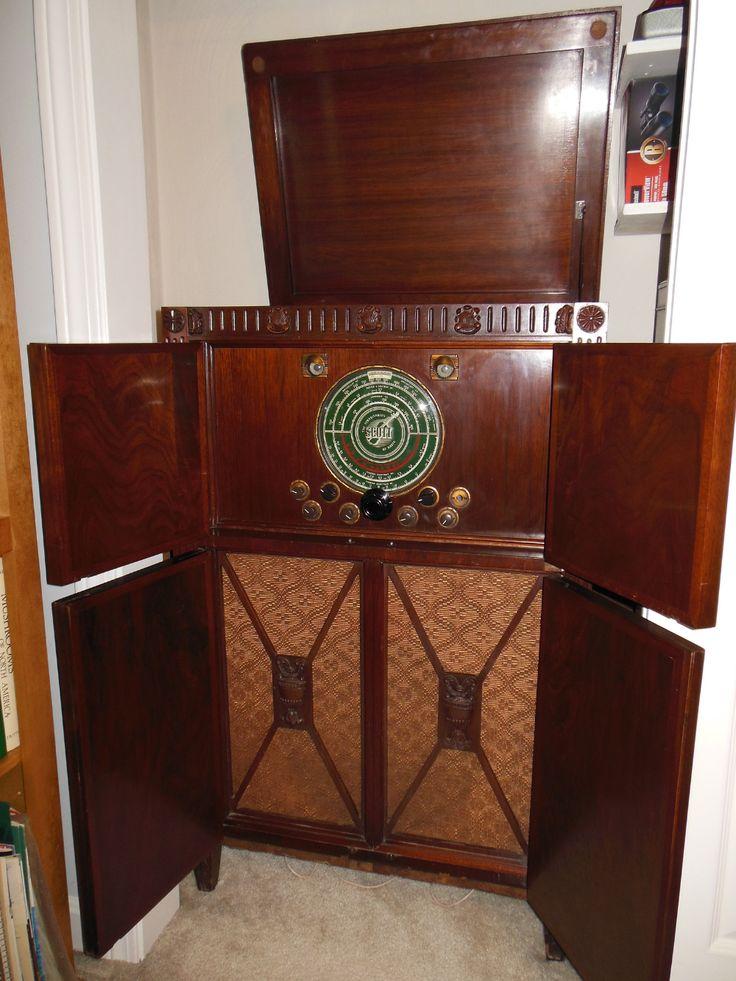 E h scott philharmonic vintage radio antique radio