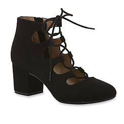 Attention Women's Cori Black Ghillie Lace-Up High-Heel Shoe