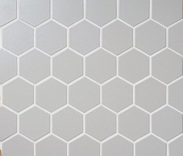 Retro Hex 24m Matte Light Grey Light Grey Hexagon Tile Bathroom