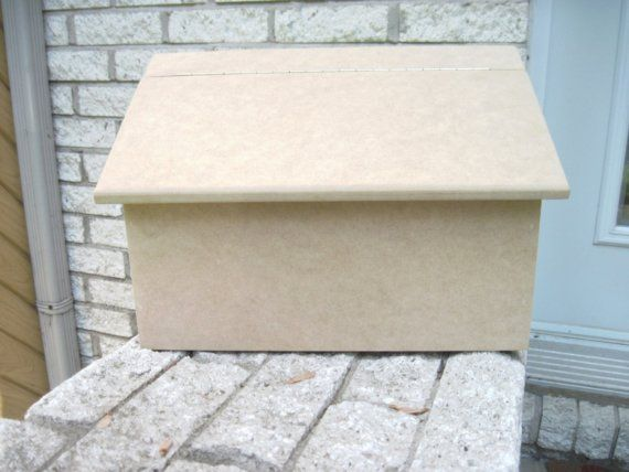 Wooden mailbox unfinished wood ready to paint by artbyLucie