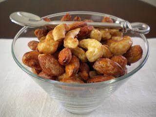 Maple Glazed Almonds and Cashews - Treats With a Twist