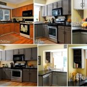BEST DIY home site PERIOD: Dreams Home, Cabinets Colors, Kitchen Makeovers, Paintings Cabinets, Kitchens Countertops, Gray Cabinets, Makeovers Updates, Kitchens Makeovers, Diy Projects