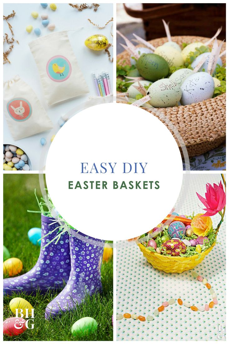 Craft a one-of-a-kind Easter basket with these chic ideas. Transform a plain Easter basket into a stunning piece of Easter decor or use it to collect Easter goodies. We've got Easter covered with these DIY basket ideas.  #easterbasket #easter #diy