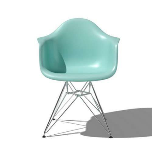 eames molded plastic armchair with metal base options