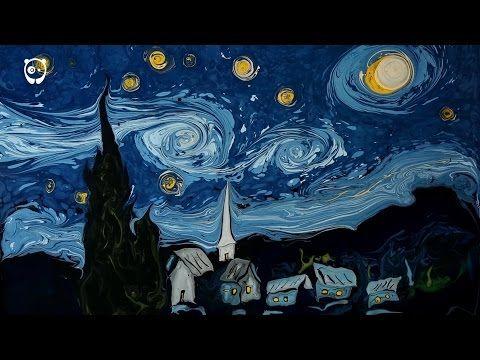 Van Gogh's Starry Night Painted On Dark Water By Garip Ay | Bored Panda