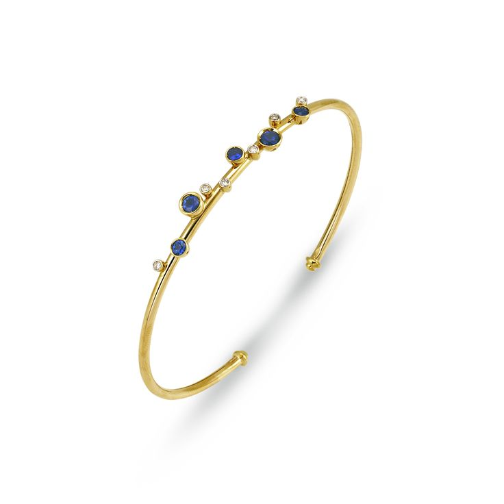 Bracelet in 18 kt Yellow gold with sapphires and diamonds