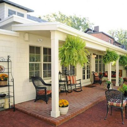 26 best images about back patio porch on pinterest for Covered back porch plans