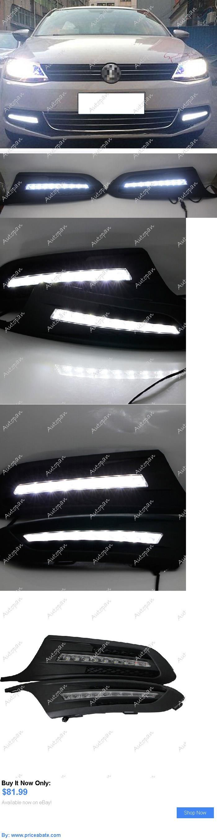Motors parts and accessories 2x daytime running lights xenon white led drl for volkswagen jetta