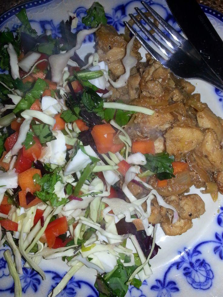 MollyRose'n'Honey: Marineret kyllingefilet med soya, tabasco og honni...