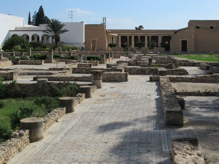 The Archaeological Museum in El Djem, Tunisia, was built next to a street of excavated Roman villas.