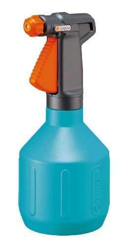 Gardena 805-U 34-Ounce Comfort Pump Sprayer by Gardena. $22.74. Large filling opening for easy filling at the tap. Spray nozzle fully adjustable from hard jet to fine mist. Quality product with a quality brand name. Ergonomically formed handle for comfortable use; With level indicator. Holds up to 34-ounce. Multi use sprayer for home and garden.