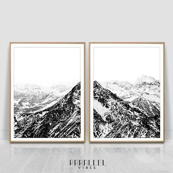 Check out this item in my Etsy shop https://www.etsy.com/listing/562245822/black-and-white-mountain-print