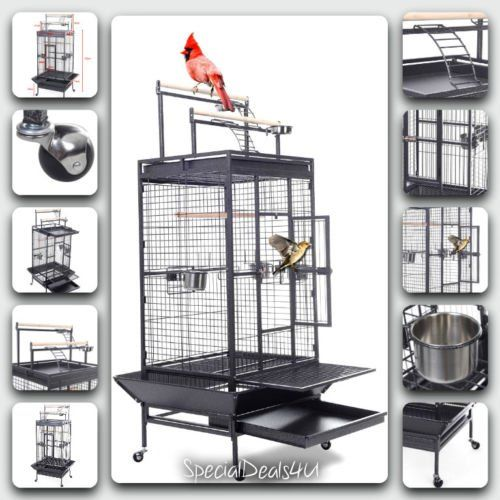 Large Bird Cage Parrot House Finch Cockatiel Macaw Play Pet Stand Parakeet Canar * Continue to the product at the image link. (This is an affiliate link and I receive a commission for the sales)