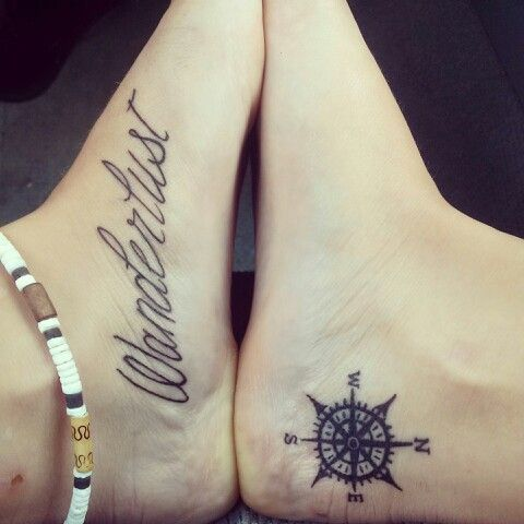 The compass tattoo might look nice on my right ankle opposite of my tattoo on my left ankle