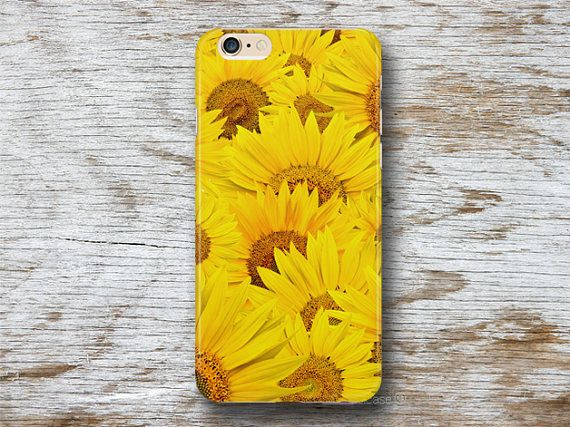 Brighten up your day with this Sun Flower phone case, made from recycled plastic, the flower pattern is transferred by heat. The Sun Flower phone case is highly durable and looks great. It protects your phone in a decorative and artistic way.   Compatible Devices: iPhone 5S sun flower cover, iPhone 6 yellow case, iPhone 6S plus floral phone case, iPhone 7 case, Samsung Galaxy S7 Samsung Galaxy S6 Samsung Galaxy S6 edge Samsung Galaxy Note 5 Samsung Galaxy Note 4 AND MORE