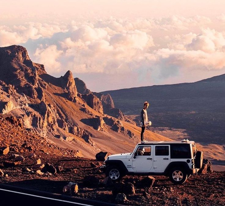 road trip | desert roads | adventure | explore | travel | earth | sunset | jeep travels | on top of the car | open sky