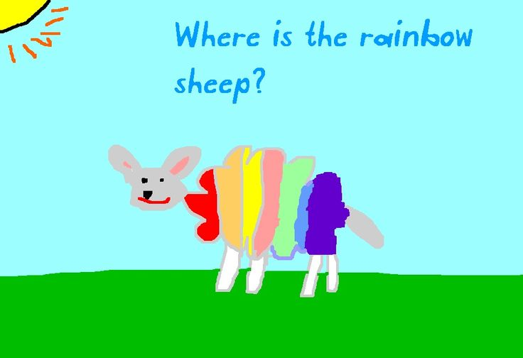 Where is the Green Sheep. Create your own sheep.