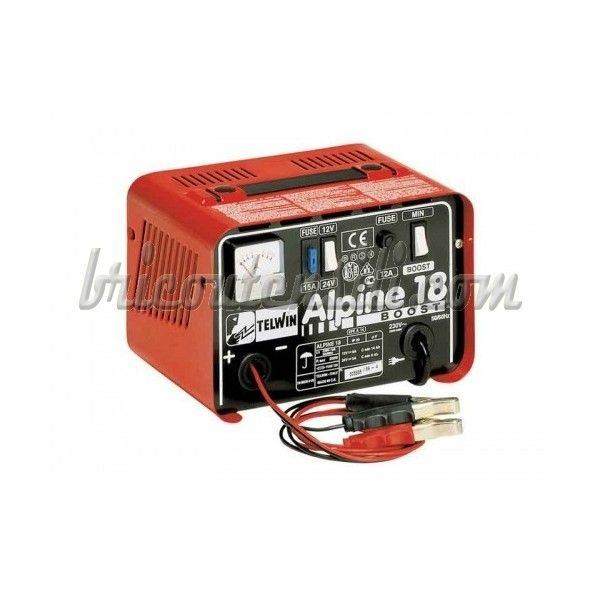 Caricabatterie portatili, monofase, per la carica di accumulatori al piombo con tensione di 12/24 V, con protezione contro sovraccarichi ed inversioni di polarità.