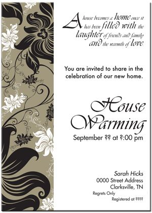 Best House Warming Invitations Images On   Party