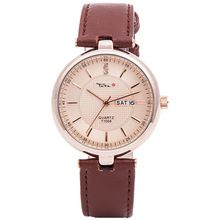 TADA luxury brand genuine leather strap men business date calendar japan pc21 quartz movement 30m waterproof analog divers watch(China (Mainland))