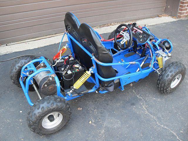 Cool full suspension, 24 Volt DC Electric Go Cart .