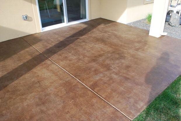 concrete stain diy patio project