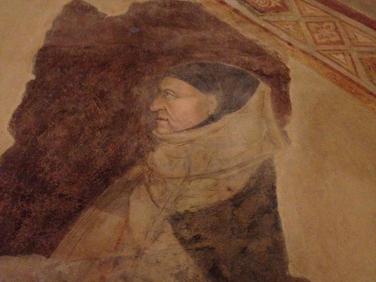 The oldest known image of Boccaccio.  Alle Murate