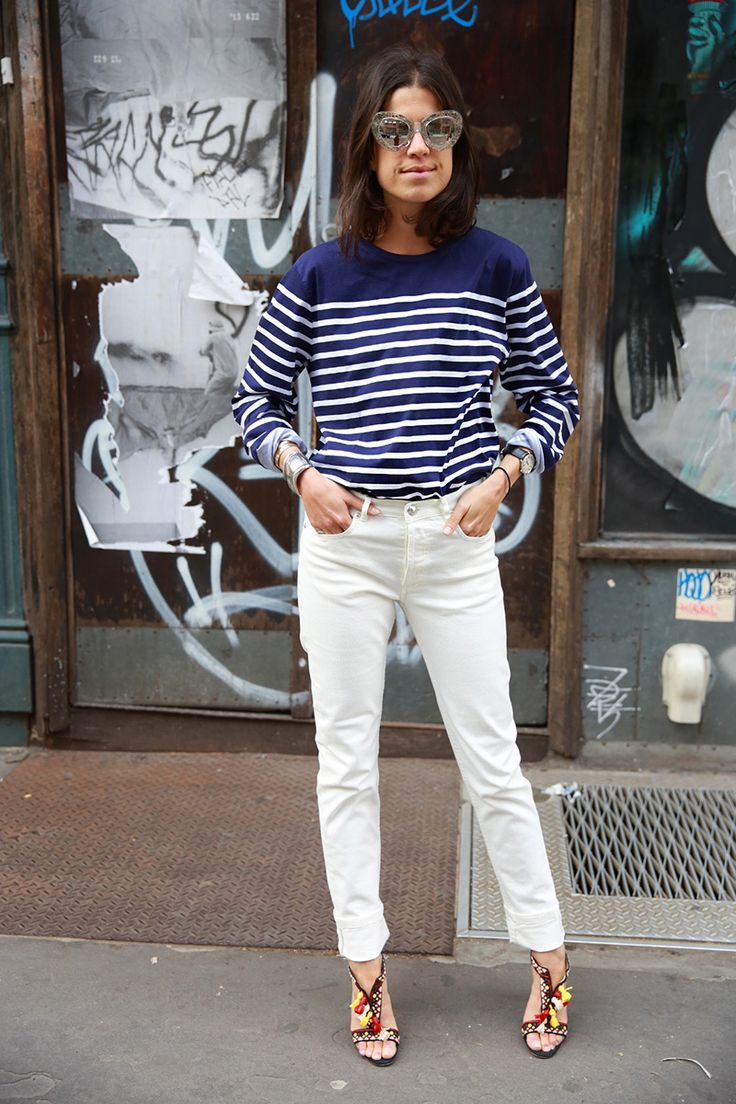 While approximating Jane Birkin's stripes, why not ponder whether stripes should be considered a neutral. Better