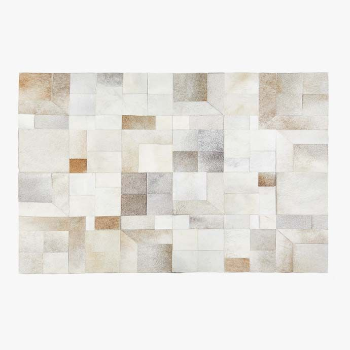 tapis cuir patchwork tapis chambre