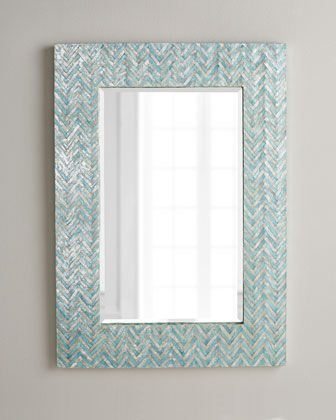 Possibly for the kids bathroom? Adriana Chevron Mirror at Horchow.