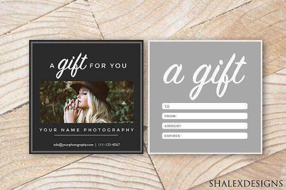 Gift Certificate Dark Template. Creative Card Templates