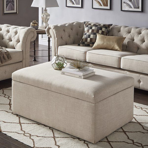 Landen Lift Top Upholstered Storage Ottoman Coffee Table By Inspire Q Artisan Storage Ottoman Coffee Table Upholstered Ottoman Furniture