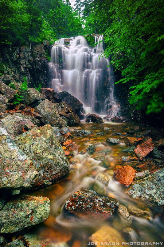 Hadlock Falls at Acadia National Park Maine