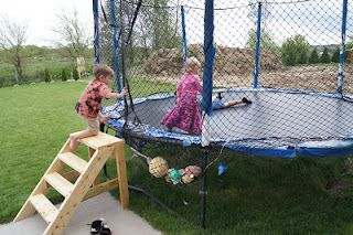 DIY trampoline stairs