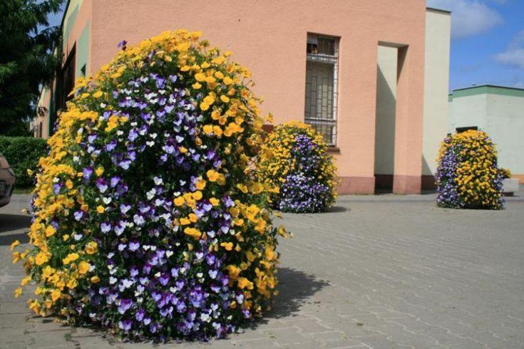 Flower towers in Trzcianka, Poland