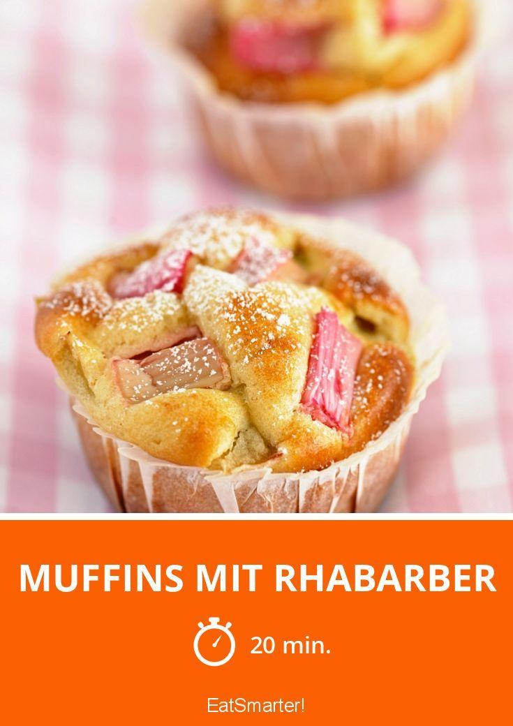 Muffins mit Rhabarber - smarter - Zeit: 20 Min. | eatsmarter.de
