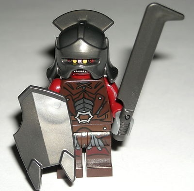 LEGO Lord of the Rings Uruk-hai Orc Minifigure w/ Helmet, Shield & Sword 9471 $9.99