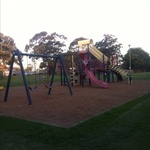 Rasdall Park has been remodelled at Narwee - this one has a bike track to keep kids busy too. Super High but safe slide.  Found at Playground Finder.
