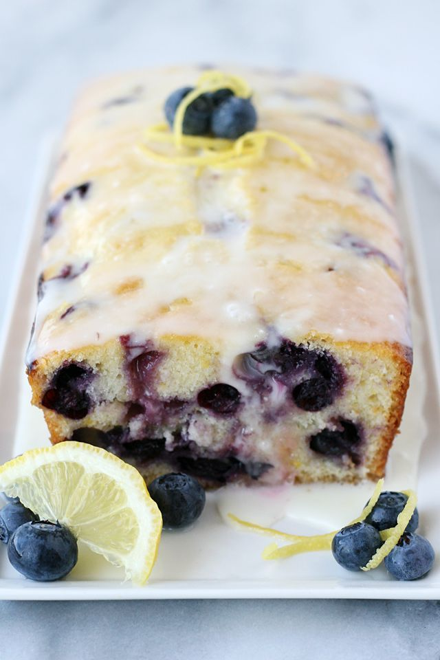 Moist, flavorful and delicious Lemon Blueberry Bread Recipe from @glorioustreats