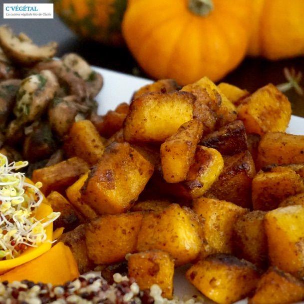 Courge butternut sautée au cumin / Stir-fried butternut squash with cumin - C'Végétal