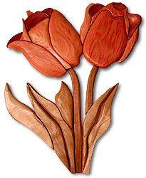 Tulips Intarsia Plan
