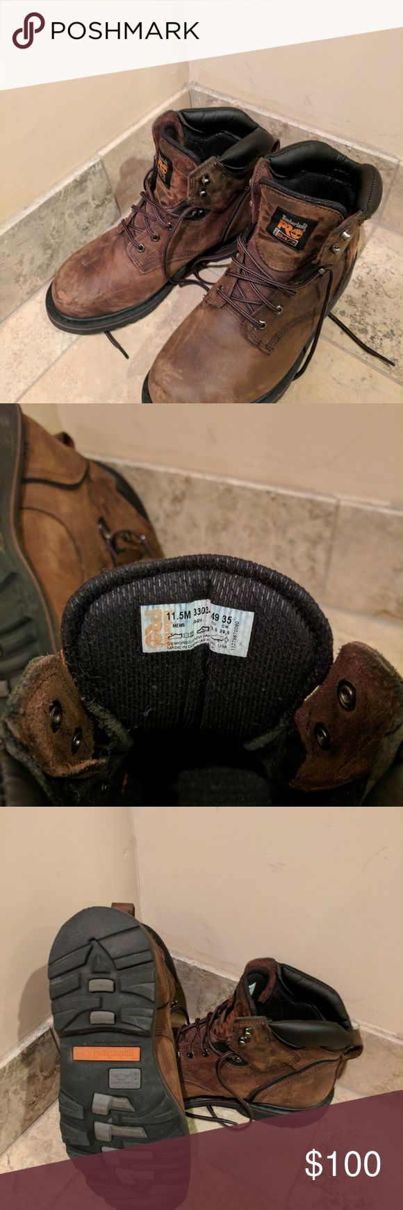 Timberland Pro Pit Boss steel toe boots Size 11.5 steel toe boots by timberland. Excellent condition, worn only a few times. Ended up being too small Timberland Shoes Boots